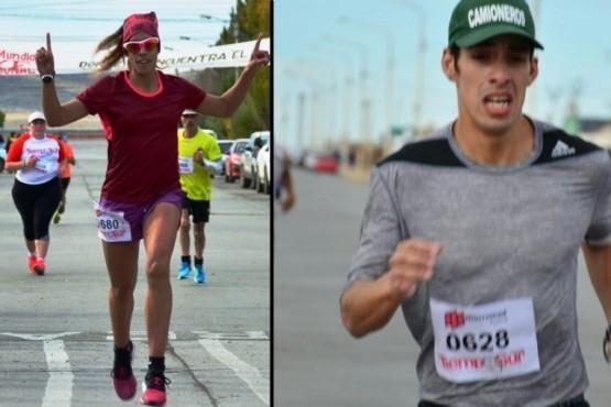 Laura Pereyra y Pablo Ernaga los ganadores de la Corrida Atlética