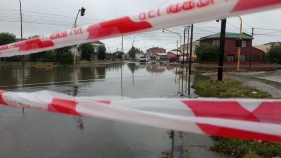 Una de las calles inundadas. (C.G)