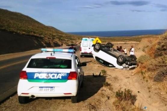 Caletense sufrió heridas tras volcar