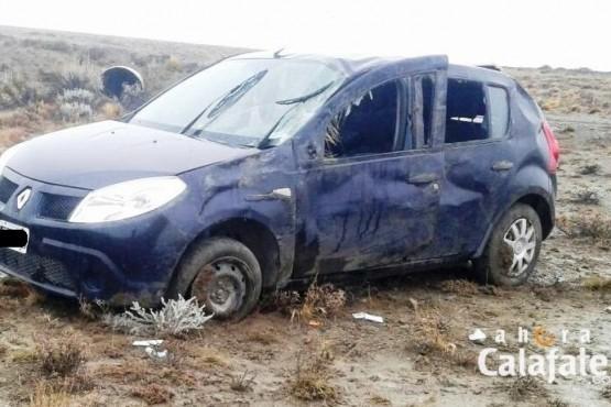 Dos mujeres resultaron con lesiones al volcar rumbo a El Chaltén