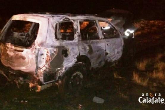Circulaba en su camioneta y se le prendió fuego