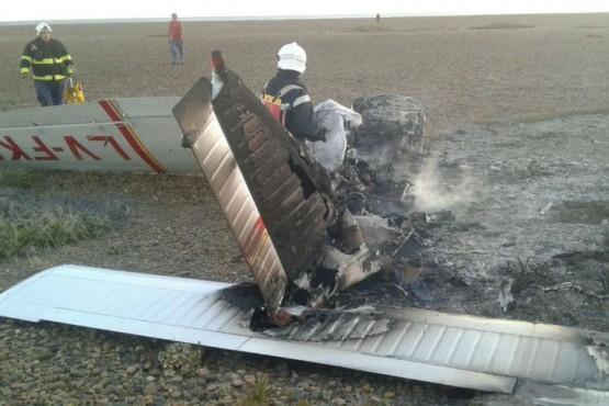 Cayó una avioneta en Chubut: hay dos muertos