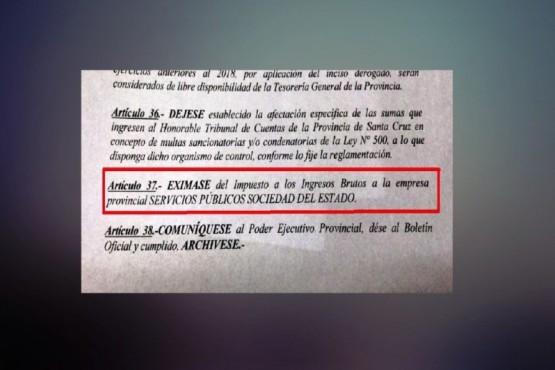 Santa Cruz exime de Ingresos Brutos a SPSE y Distrigas para reducir tarifas