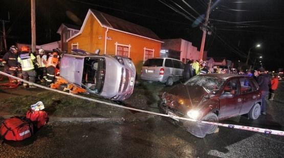 Cinco heridos tras el vuelco: (Fuente: El Magallánico)