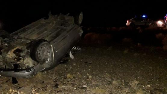 Dos personas trasladadas al hospital tras vuelco en cercanías de Las Heras