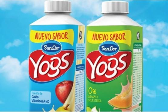 Ordenan retiran del mercado lotes del yogur Sancor Yogs descremado