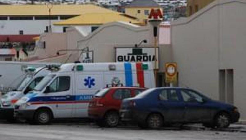 El interno Romero quedó internado en el nosocomio de Río Turbio.