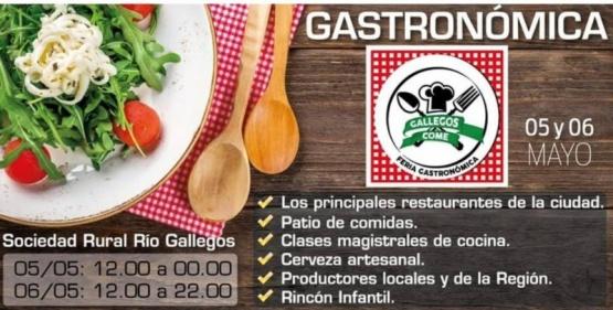 """Todo listo para la primera Feria Gastronómica Regional """"Gallegos come"""""""