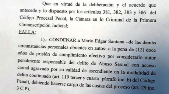 Ciclista y gendarme fueron sentenciados a las penas de 11 y 12 años de prisión