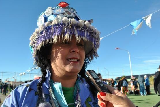 Carina Iriarte, responsable de la murga. (Foto: J.C.C.)