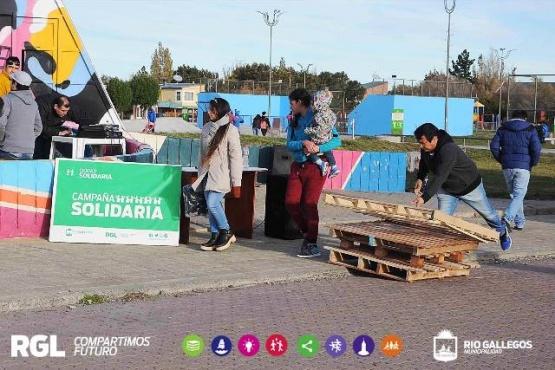 Realizaron campaña solidaria para recolectar leña y elementos para calefaccionar