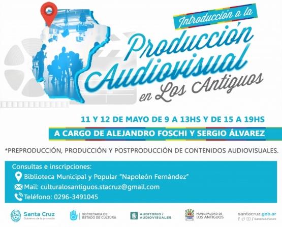 Se realizará un taller de introducción a la producción audiovisual