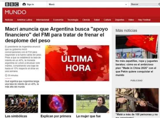 La negociación de Argentina con el FMI en los medios del mundo
