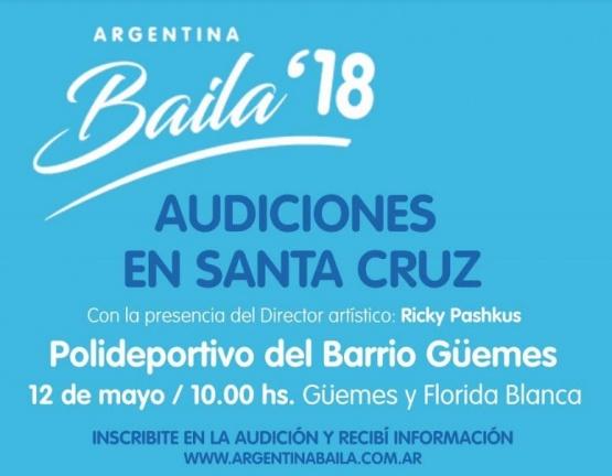 Invitan a bailares a la audición de Argentina Baila 2018
