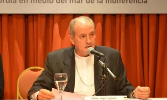 El presidente de la Pastoral Social de la Conferencia Episcopal Argentina, Monseñor Jorge Lugones.