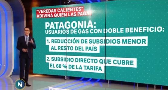 Barili cuestionó el subsidio del gas.