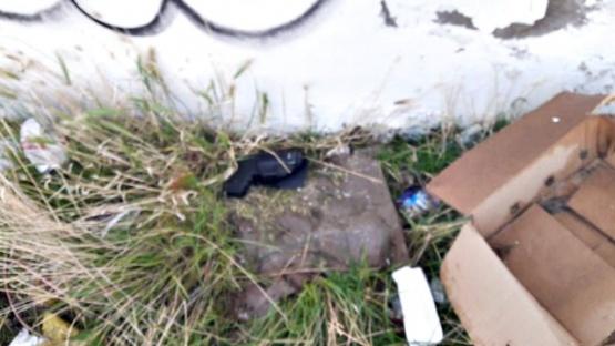 El arma fue encontrada y secuestrada por la policía.