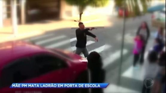 Una policía de civil mató a un ladrón frente a una escuela llena de chicos