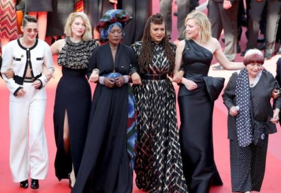 Estrellas femeninas del cine exigen igualdad salarial en la alfombra roja de Cannes