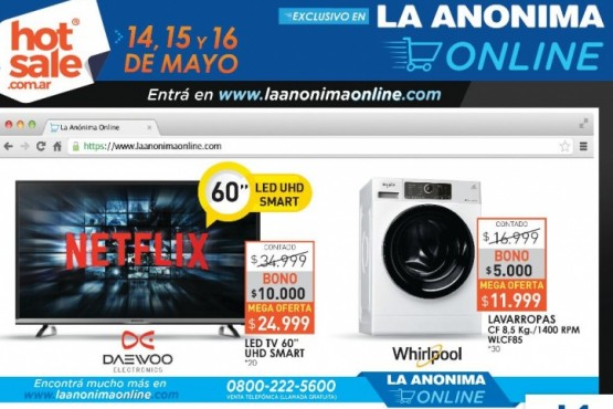 No te pierdas el Hot Sale en La Anónima