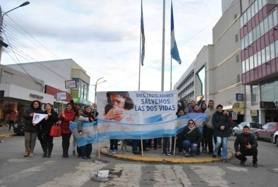 Manifestación contra el aborto en Río Gallegos