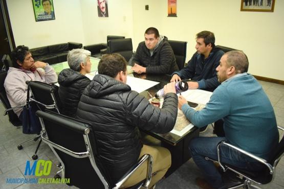 Prades se reunió con miembros de la Federación de Voley