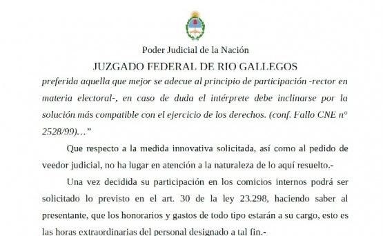 """Falló a favor de la lista """"Unidad"""" en las internas de la UCR"""