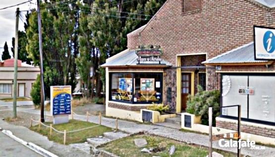 Local donde ingresaron el o los delincuentes en El Calafate. (Foto: Ahora Calafate)
