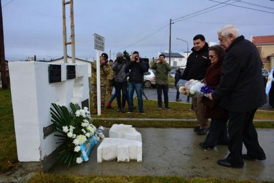 Rindieron homenaje a José Honorio Ortega