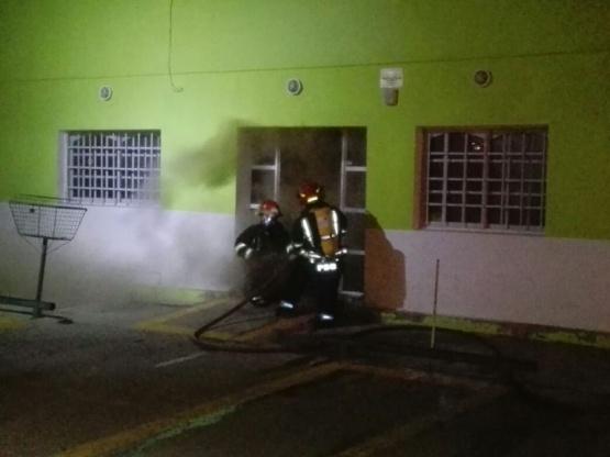 Se incendió el tribunal de Falta de Las Heras