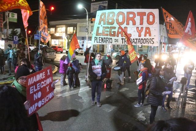 La concentración se realizó en Kirchner y San Martín. (C.G)