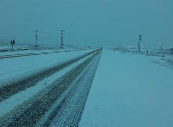 Precaución al transitar por presencia de nieve