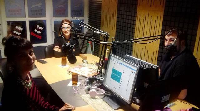 Marisa Herrera visitó el viernes los estudios de Tiempo FM