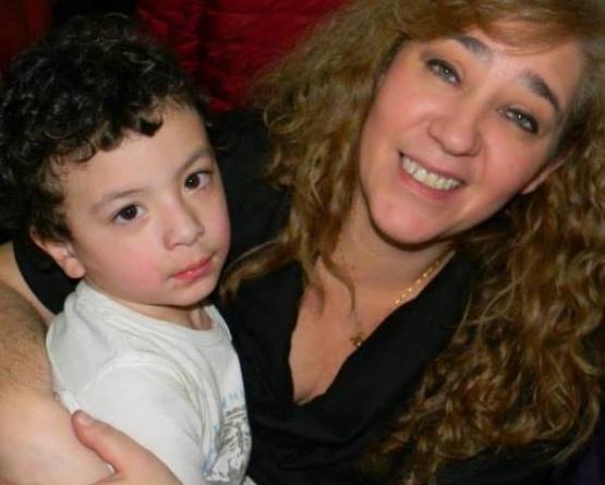 Paula con su hijo Lorenzo viven días de felicidad.