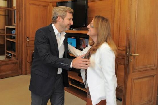 Alicia Kirchner se reunió con Frigerio que visitará nuevamente la provincia
