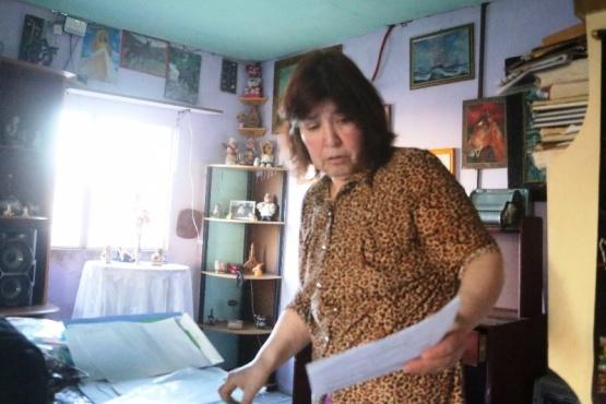 Lidia mostró todas las constancias de sus denuncias, peritajes y de la medida cautelar que ahora le niegan