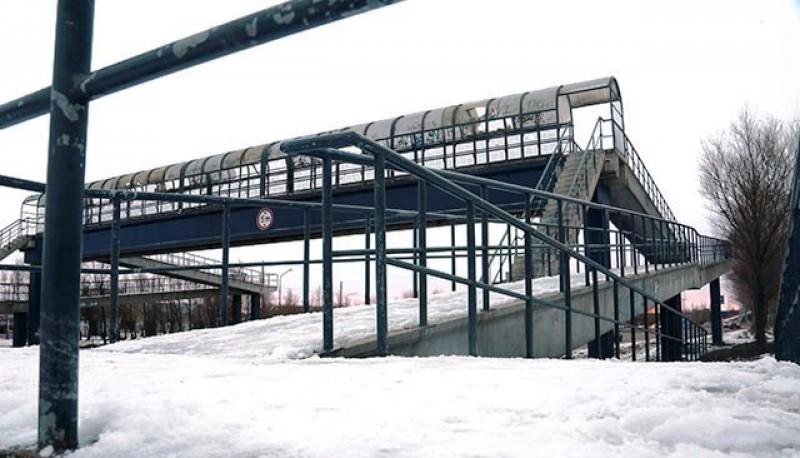 Puente de la Autovía con nieve (Foto archivo)