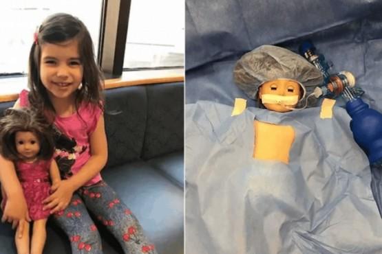 Operaron a la muñeca de una nena de 5 años para que se sienta acompañada