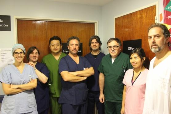 El equipo médico del HRRG.