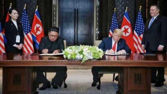 Qué dice el documento que firmaron Donald Trump y Kim Jong-un
