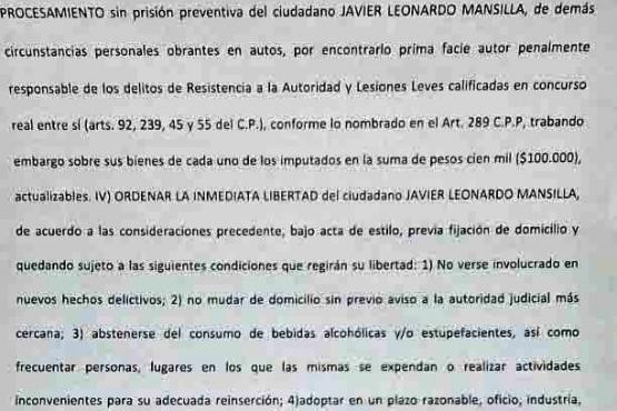 Juez Quelin finalmente liberó al padre de la niña que atropelló, pero lo procesó