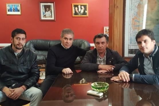 González recibió al intendente y al Diputado por Pueblo de 28 de Noviembre
