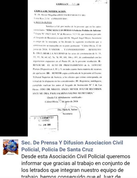 Asociación Policial celebró el fallo del Tribunal de Recursos por la sentencia de Quelín