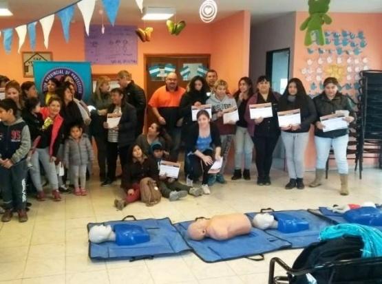 Vecinos de San Benito se capacitaron en RCP