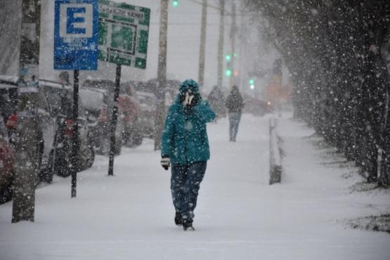 Llegó la nieve a Río Gallegos