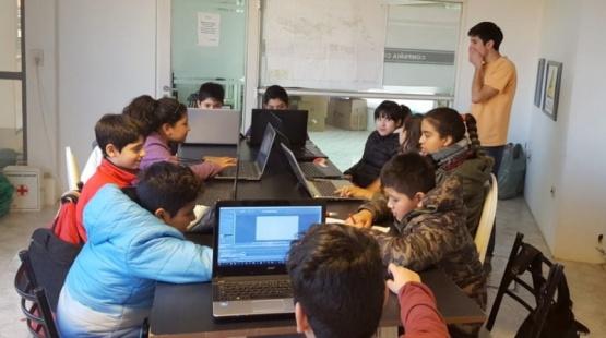 Los chicos aprenden ilustración y animación