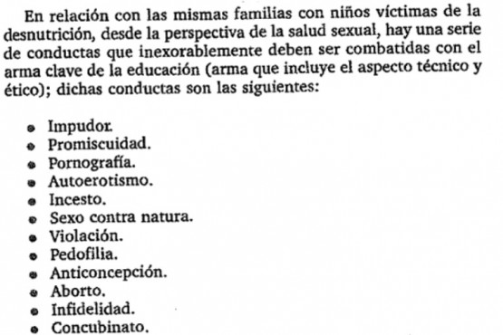 Del libro Gobernar es poblar, del médico Abel Albino (Ed. Fundación Conin, 2010).