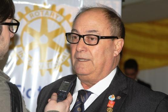 Rojas asume en la conducción del Rotary. (C.G)