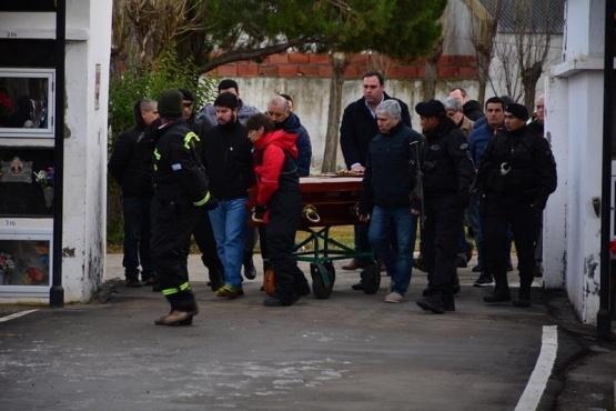 Lázaro Báez asistió al último adiós a su madre