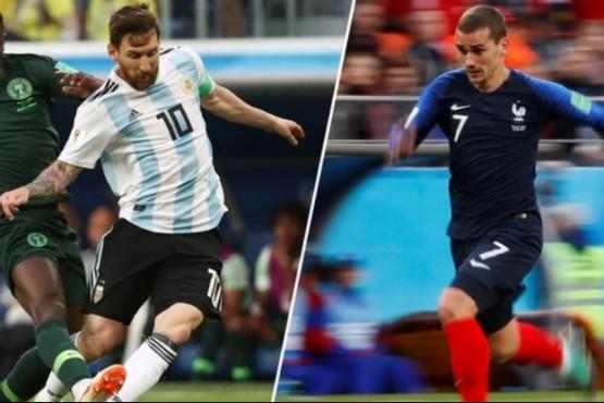 Argentina arribó al estadio para enfrentarse con Francia